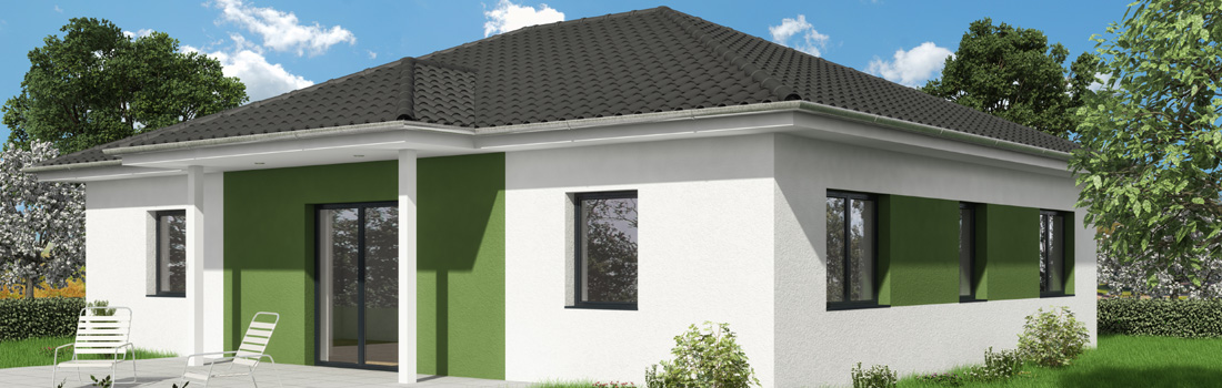 Bungalow OPAL 101 - Der Blick auf die Terrasse