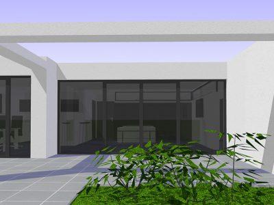 Dolomit 138 - Terrasse mit Luftbalken