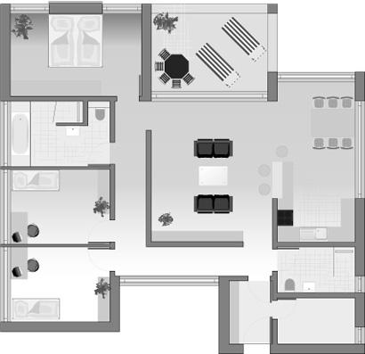 Dolomit 138 - Grundriss Erdgeschoss