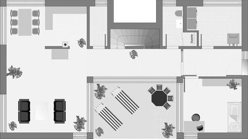 Bauhaus-Stil: Dolomit 183 - Das Obergeschoss