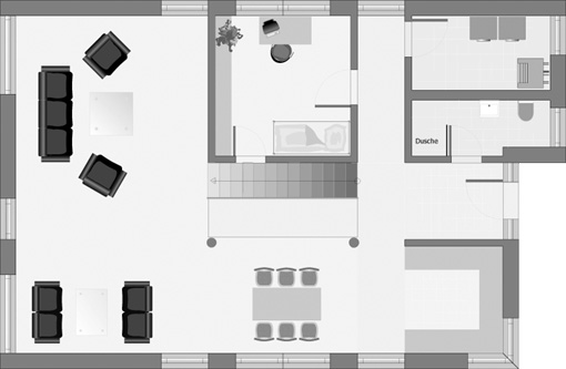 Bauhaus-Stil: DOLOMIT 217: Obergeschoss