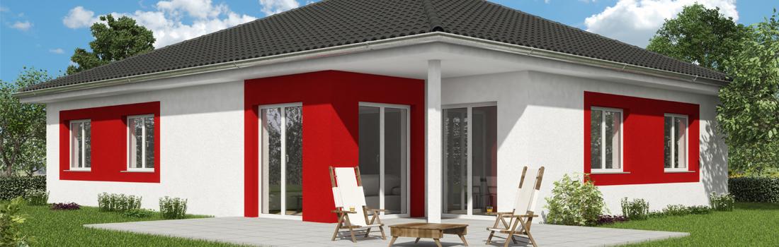 Bungalow OPAL 124 - Der Blick auf die Terrasse