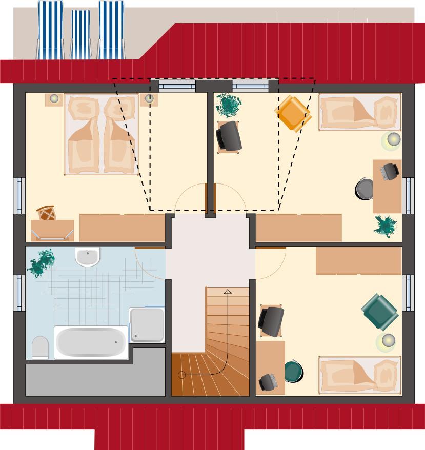 Landhaus Rubin 131 - Dachgeschoss
