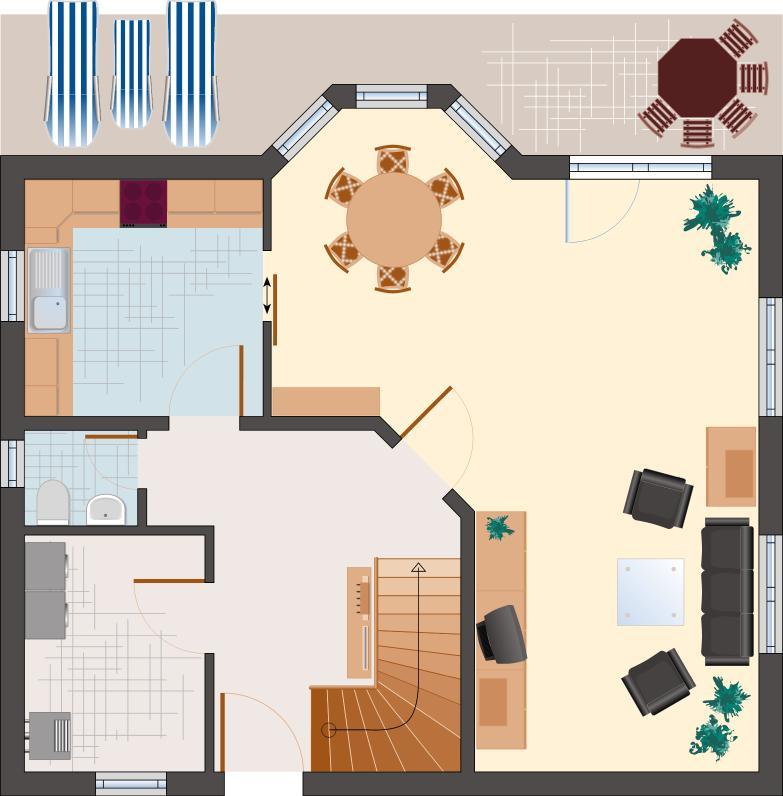 Landhaus Rubin 131 - Erdgeschoss