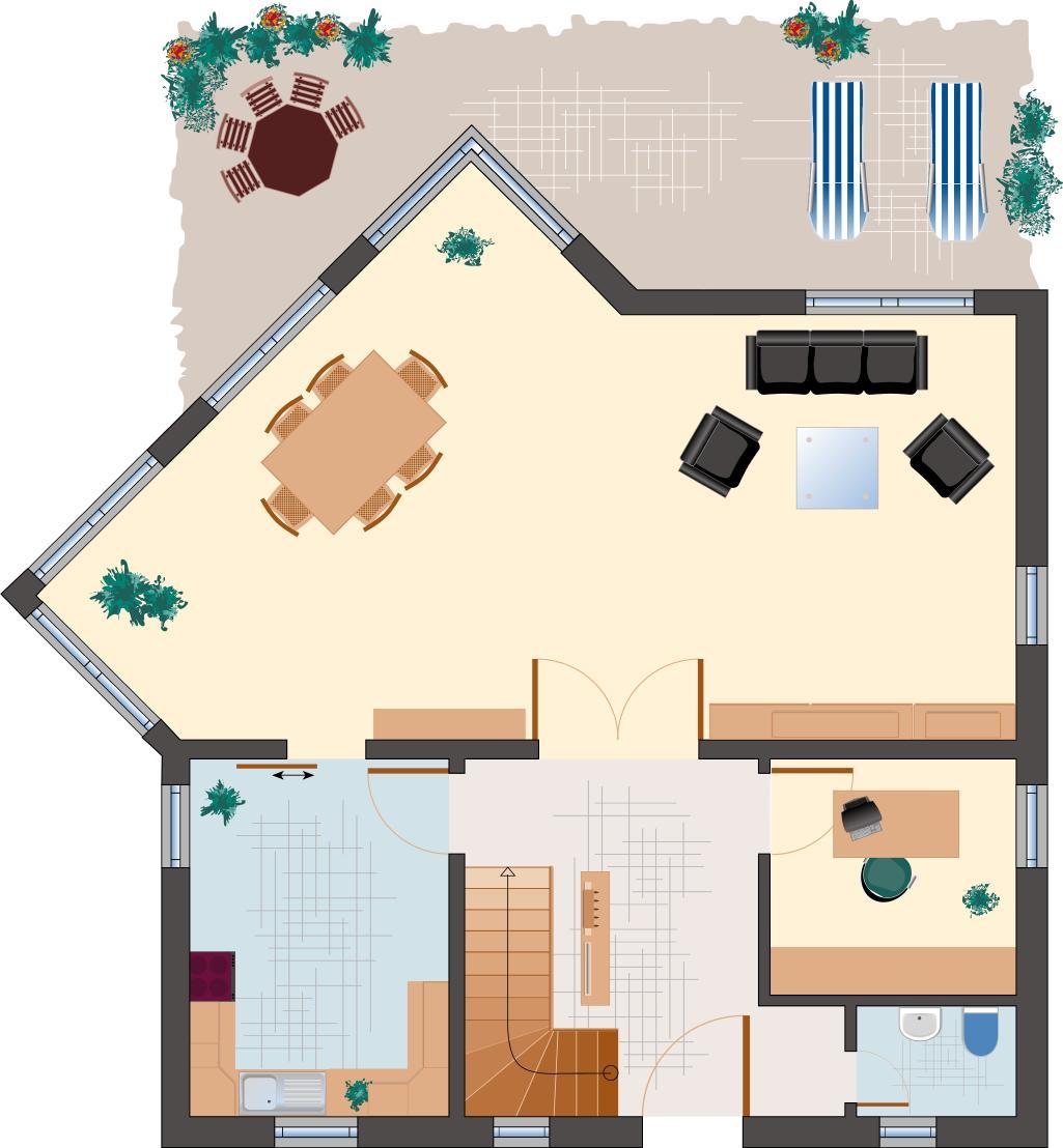 Landhaus Rubin 156 - Erdgeschoss