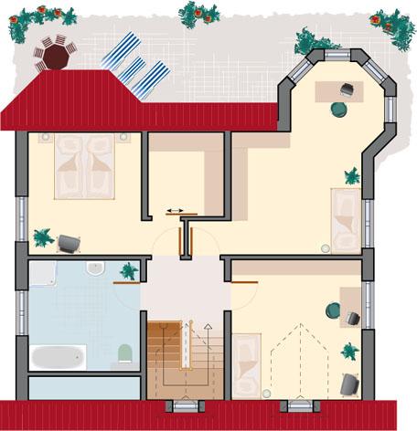 Landhaus Rubin 172- Dachgeschoss