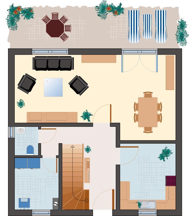 Klassiker-Stil: Saphir 118 - Erdgeschoss
