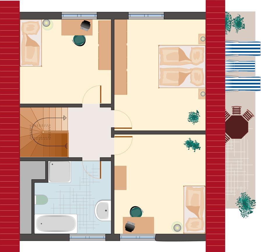 Klassiker-Stil: Saphir 132 - Dachgeschoss