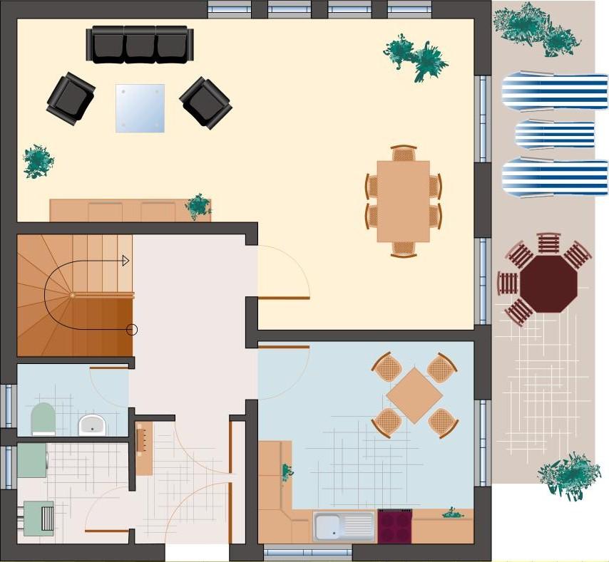 Klassiker-Stil: Saphir 132 - Erdgeschoss