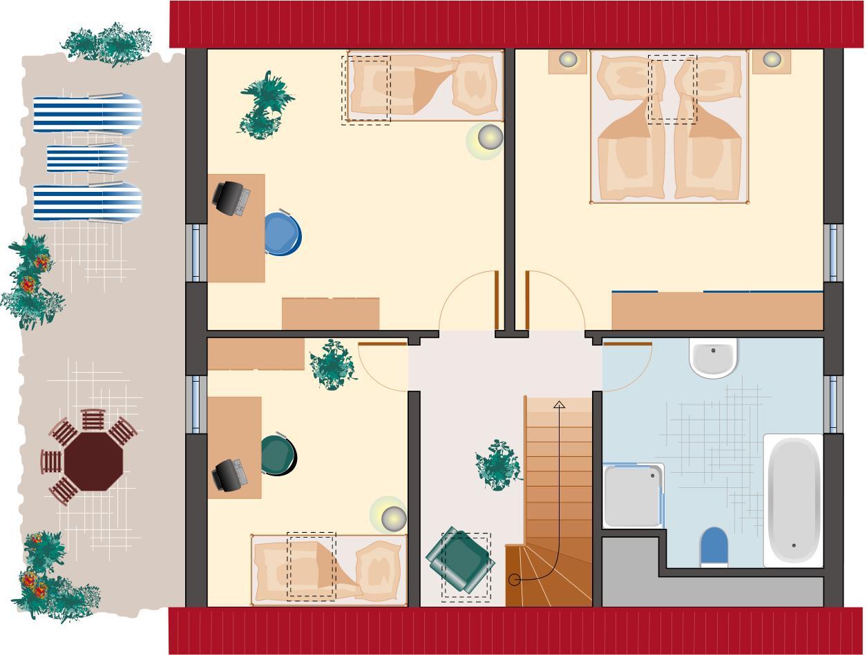 Klassiker-Stil: Saphir 158 - Dachgeschoss