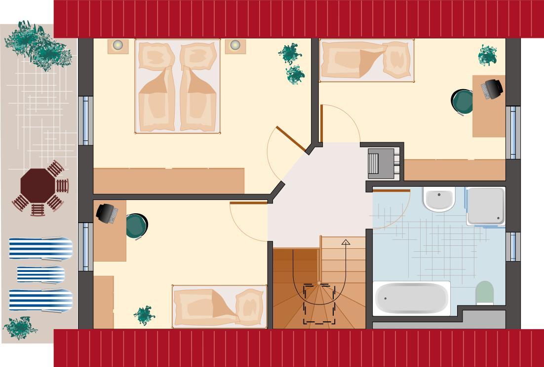 Klassiker-Stil: Saphir 95 - Dachgeschoss