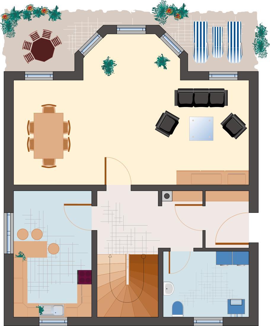 Landhaus Smaragd 133 - Erdgeschoss