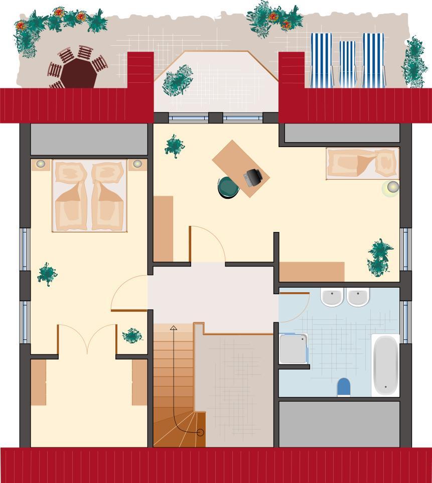 Landhaus Smaragd 150 - Dachgeschoss