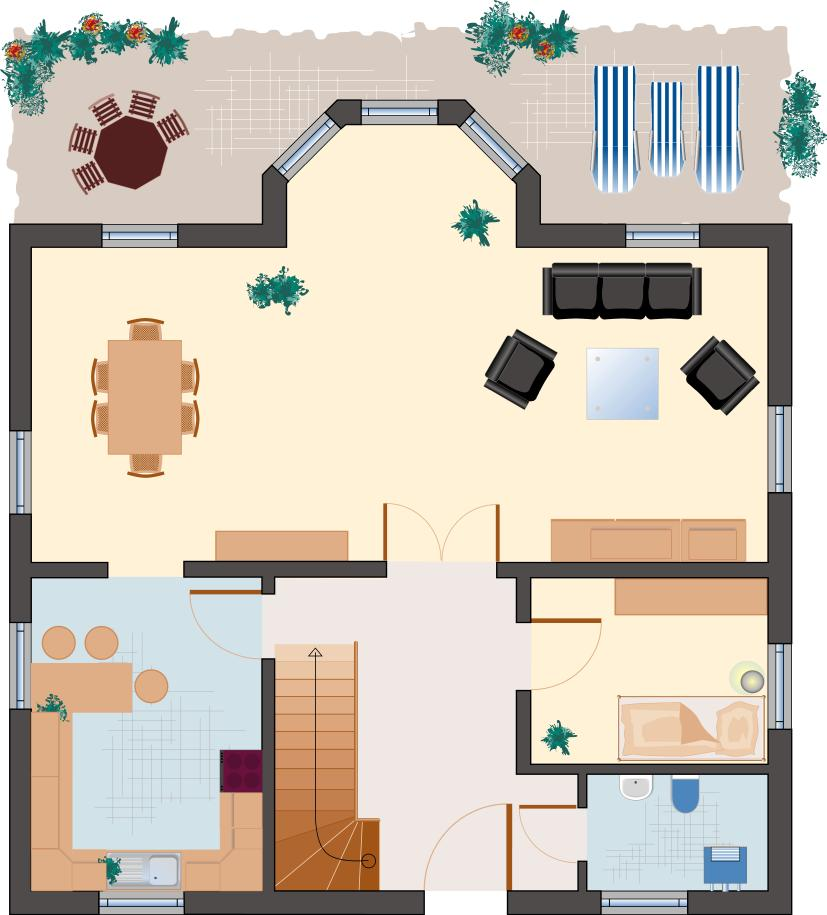 Landhaus Smaragd 150 - Erdgeschoss