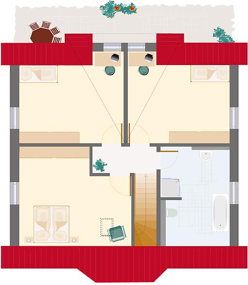 Landhaus Smaragd 153 - Dachgeschoss