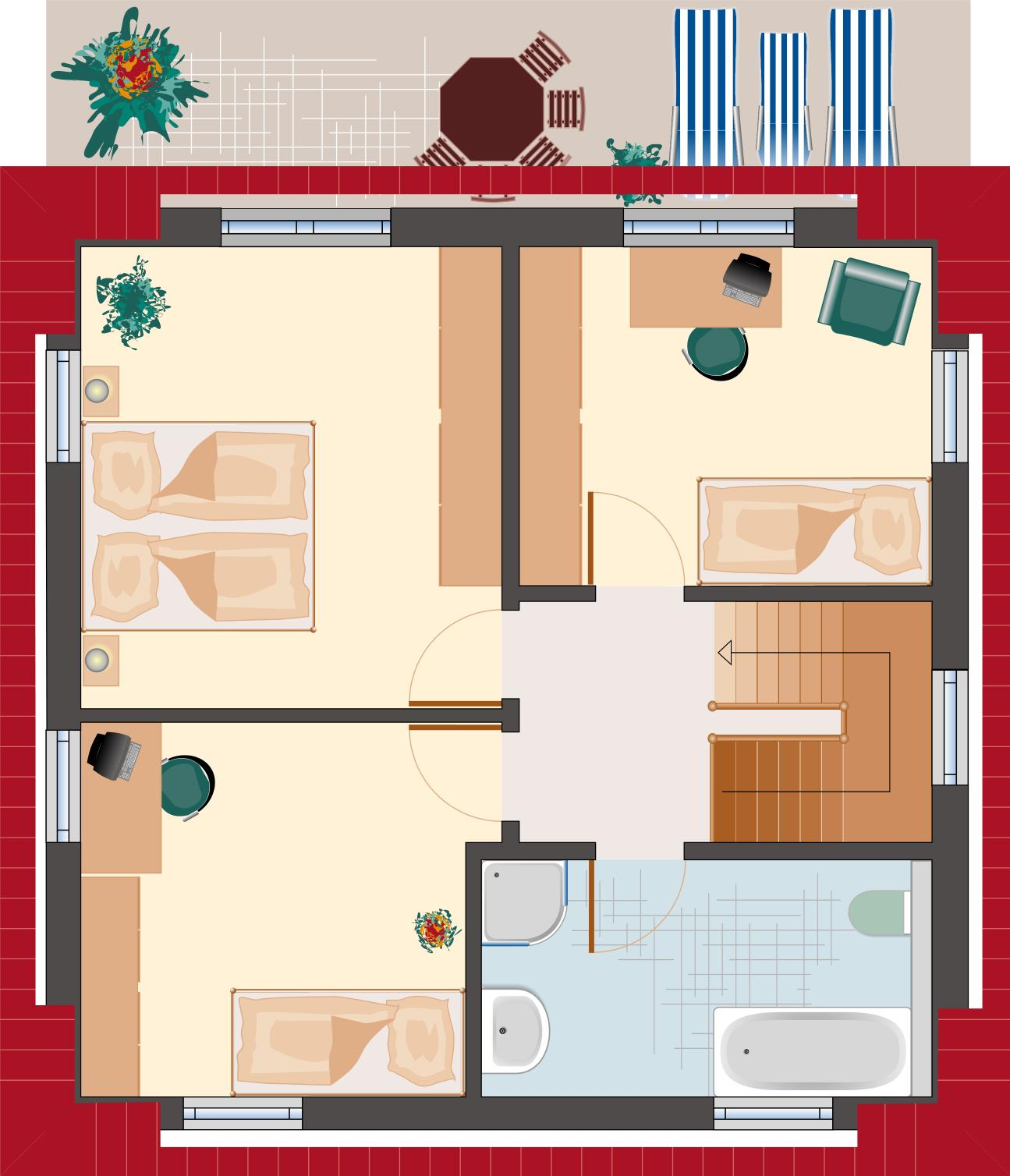 Topas 105 - Obergeschoss