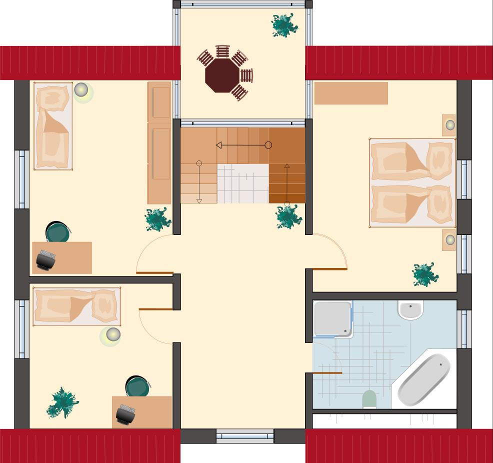 Klassiker-Stil: Zirkon 180 - Dachgeschoss