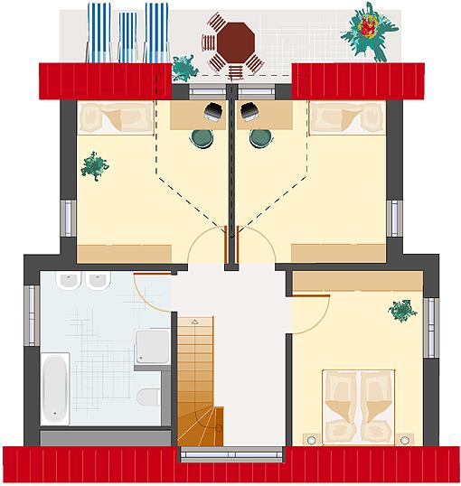 Architektenhaus: Achat 136 - Dachgeschoss