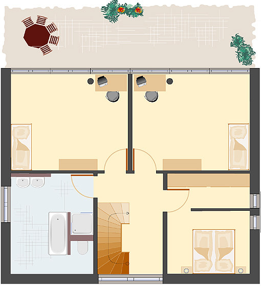 Architektenhaus: Achat 162 - Obergeschoss