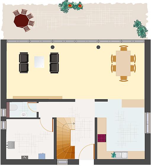 Architektenhaus: Achat 162 - Erdgeschoss