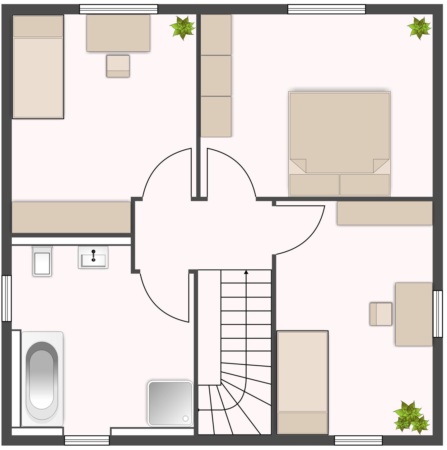 Topas 123 - Obergeschoss