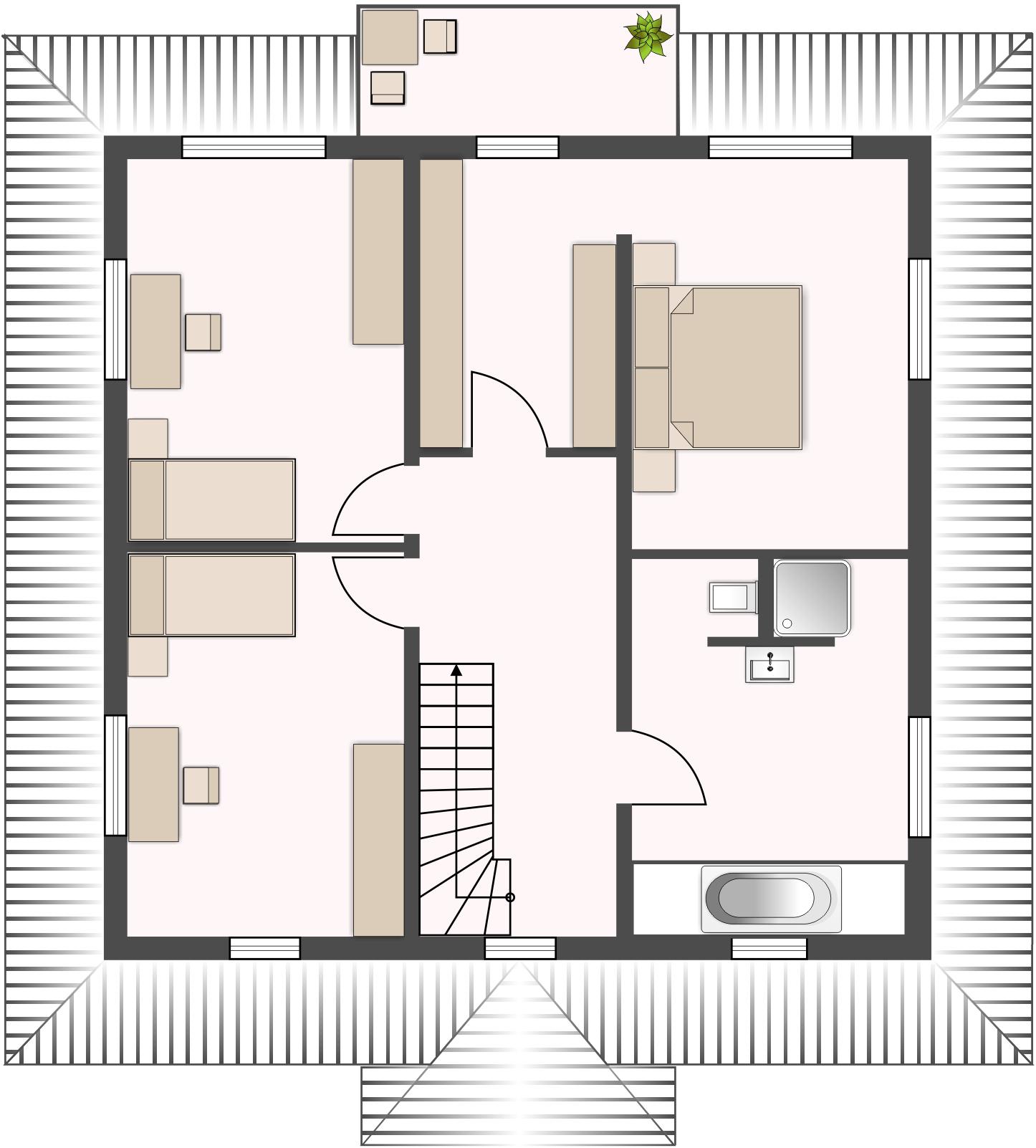 Topas 186 - Obergeschoss