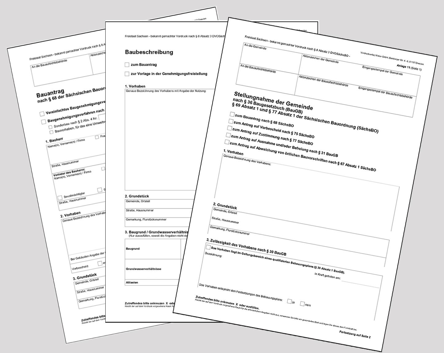 Planung - Bauantragsformulare