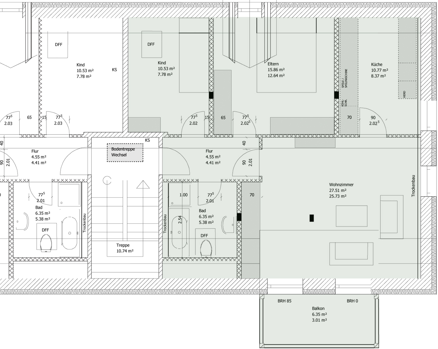 Sanierung MFH Schubertstrasse - Dachgeschoss