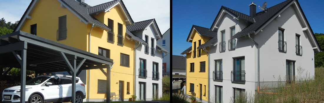 Massives Doppelhaus, Jena 2016 - Karussell